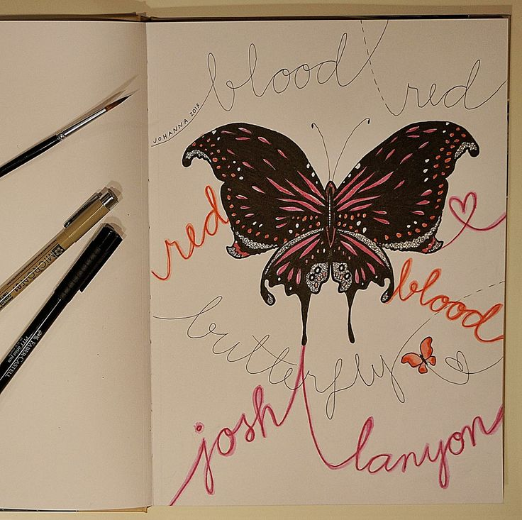 Artwork made by Johanna Ollila inspired by Josh Lanyon book Blood Red Butterfly