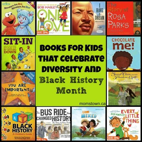 Books for kids about diversity, race, difference and Black History Month