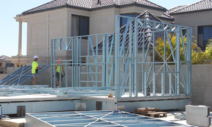 Wall frame system for fast build, light weight 2 storey homes, on the canals in Mandurah