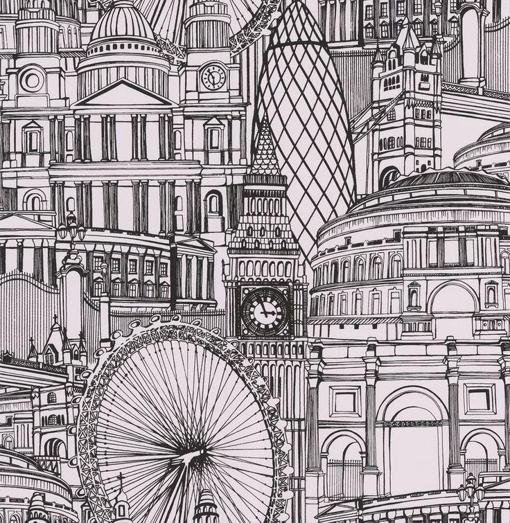 London-Themed Wallcoverings