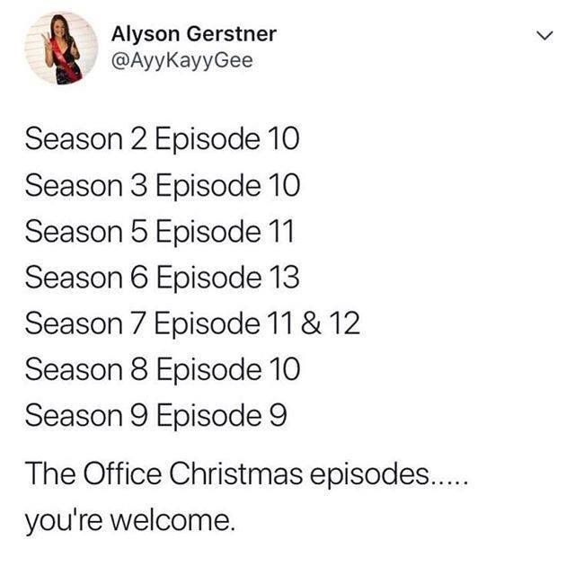 All The Office Christmas Episodes The Office Show The Office Office Christmas Episodes