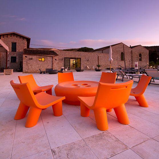 Fotel | Low Lita | pomarańczowy - Makeithome.pl | Loving Creative Solutions