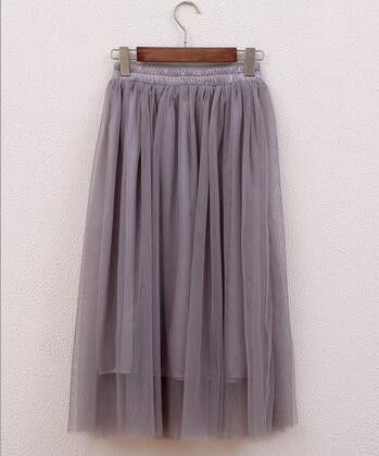 2017 New Summer Women Sexy Long Chiffon Plus Size Fashion Candy Color Pleated Maxi Skirts For Teenager Girls Skirts