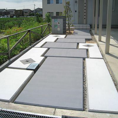 既存の土間を塗装でリフォーム,富山のエクステリア ガーデンリフォーム greenglobe