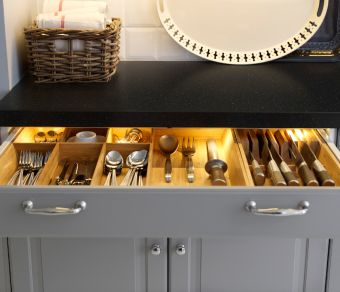 All Lighted Drawers Is A Must For My Vanity OMLOPP LED Lighting Strip Shown  Inside A. Inside Kitchen CabinetsIkea ...