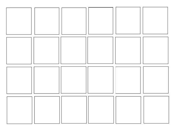 Blank Calendar Blocks : Full page blank squares g printables and handouts