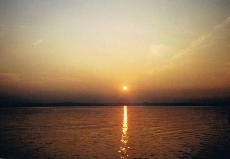 Sunset at Lake Balaton, the Hungarian Sea