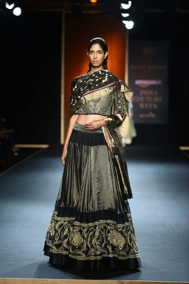 #AICW #AICW2015 #RahulMishra #fdci #bridal #couture #handloom #indianfashion #designer #weddingfashion #indianwedding #heirloom #handwoven #intricate #lehenga #black #gold #indian #chanderi #gothicbride #winterwedding #shopnow #weheartit