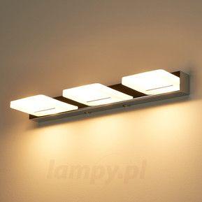 3-punktowa lampa ścienna LED Madita, chromowa 9622012