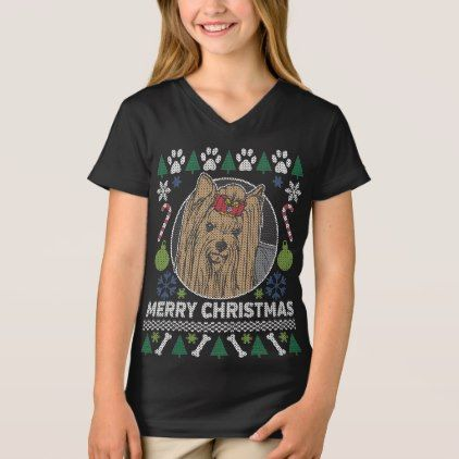 Yorkie Dog Breed Ugly Christmas Sweater - diy cyo customize create your own #personalize