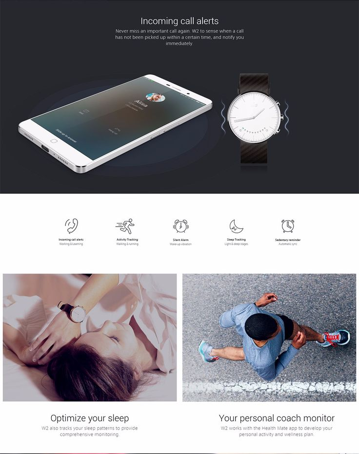 US Direct | Elephone W2 Bluetooth 4.0 IP53 Pedometer Camera Remote Classic Smartwatch