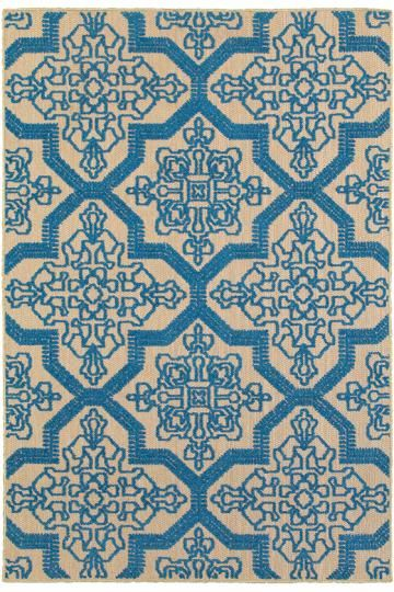 Sarita Area Rug - Synthetic Rugs - Machine-woven Rugs - Patio Rugs - Outdoor Rugs - Transitional Rugs - Coastal Rugs - Contemporary Rugs | HomeDecorators.com