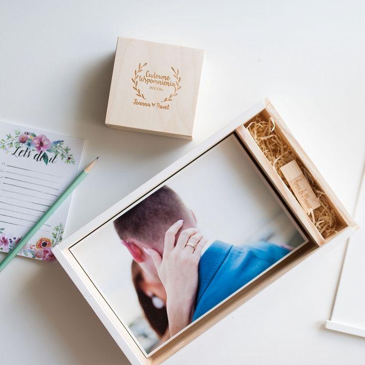 White wooden photo box #photobox #wood