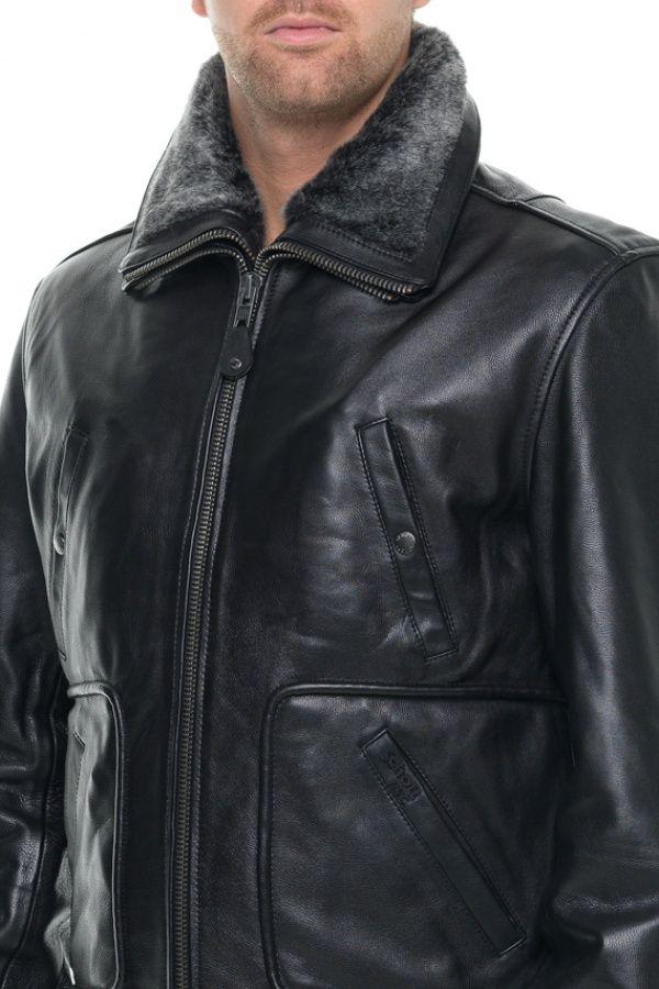 Blouson Homme Schott LC8100A BLACK