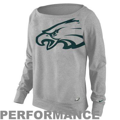 Nike Philadelphia Eagles Ladies Wildcard Epic Crew Performance Sweatshirt - Ash