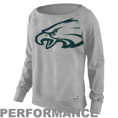 Nike Philadelphia Eagles Ladies Wildcard Epic Crew Performance Sweatshirt - Ash