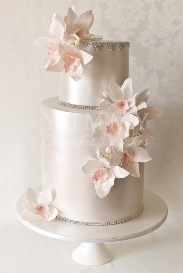 soft pink and silver wedding cakes incredibly wedding cake design with pearlized 20278