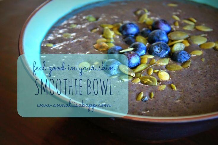 Acai Berry Detox Smoothie Bowl with Genuine Health Vegan Fermented Protein
