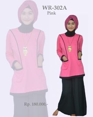 Baju Stelan Katun Remaja WR-302A Warna Pink