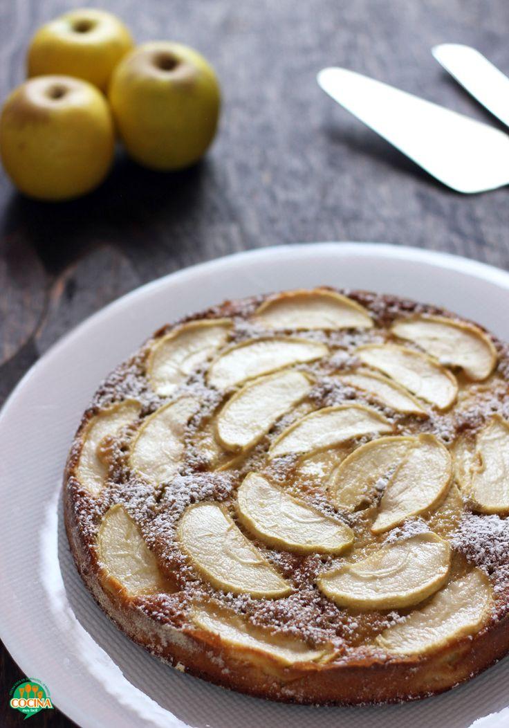 Pastel de manzana bajo en grasa. Receta   Cocina Muy Fácil   http://cocinamuyfacil.com