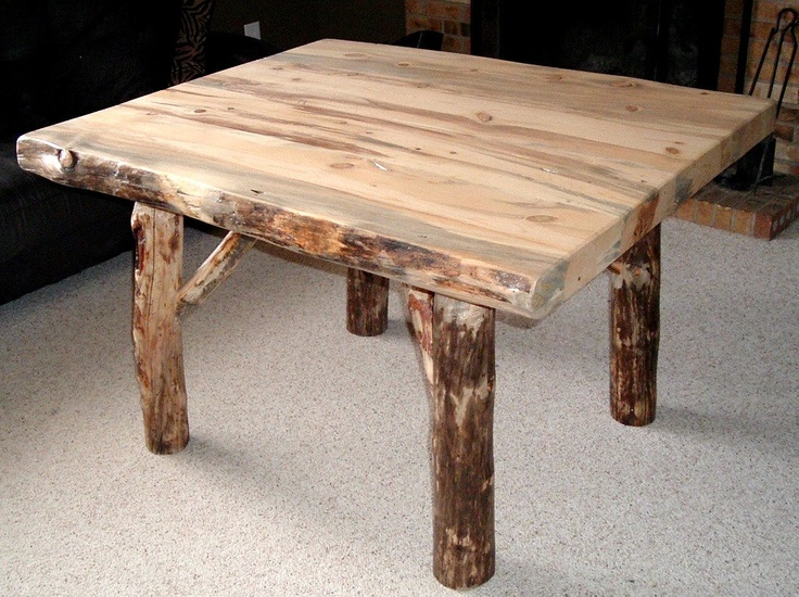 rustic log kitchen table