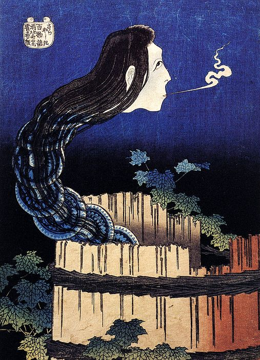 Katsushika Hokusai A Woman Ghost Appeared From A Well