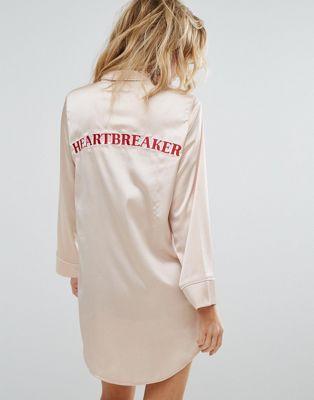 """Ночная рубашка с надписью """"Heartbreaker"""" Missguided"""