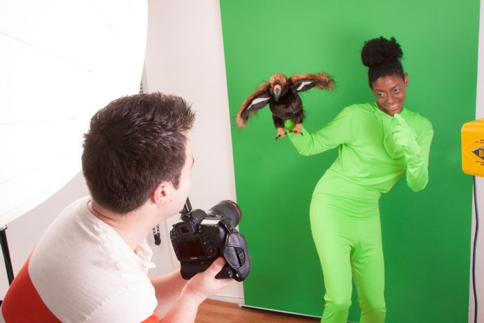 What funny effects have you used a green screen suit for?
