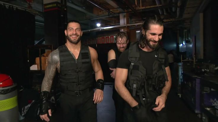 The Shield Backstage on ##RAW Last night Who Let's The Hounds Out, The Shield Ruins They'll Yards.