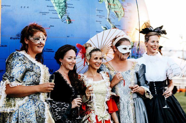 Ladies dressed in the 1616 era