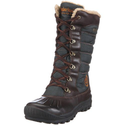 How To Style Timberland Boots For Women | Timberland Women's 21644 Earthkeepers Mount Holly Tall Lace Duck ...