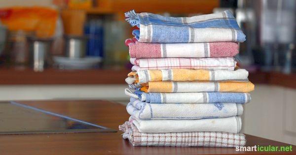 Alternative zur Küchenrolle (Handtücher, Lappen, alte Shirts, Stoffreste, Mulltücher...)