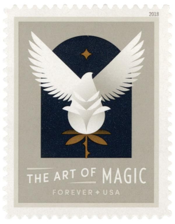 5305 – 2018 First-Class Forever Stamp - The Art of Magic