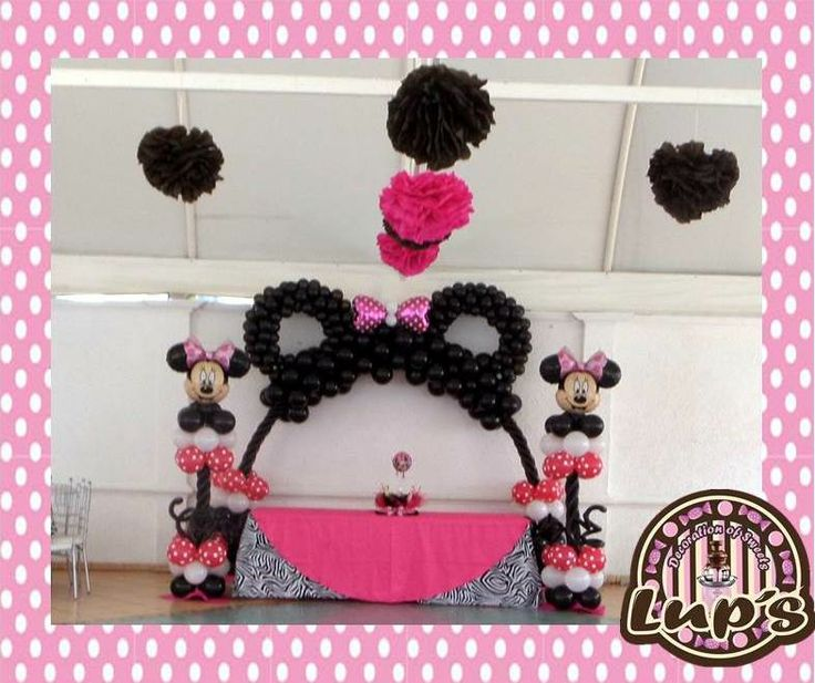 160 best images about ballon decorations on pinterest for Balloon decoration minnie mouse