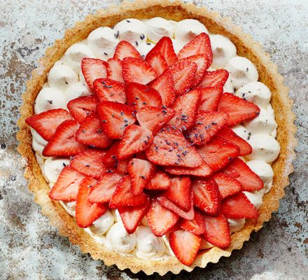 Delicate lavender and honey cream is the perfect accompaniment to a slice or two of this sumptuous summer dessert. Assemble the tart just before serving to prevent soggy pastry