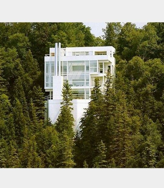 Casa Douglas, en Harbor Spring, Michigan 1971 Arq. Richard Meier