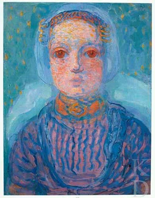 Piet Mondriaan Zeeuws meisje, 1909-1910 #Zeeland #Walcheren