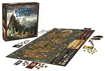 The Board Game,three to six players take on the roles of the great Houses of the Seven Kingdoms of Westeros, as they vie for control of the Iron Throne through the use of diplomacy and warfare. Through strategic planning, masterful diplomacy, and clever card play, spread your influence over Westeros!