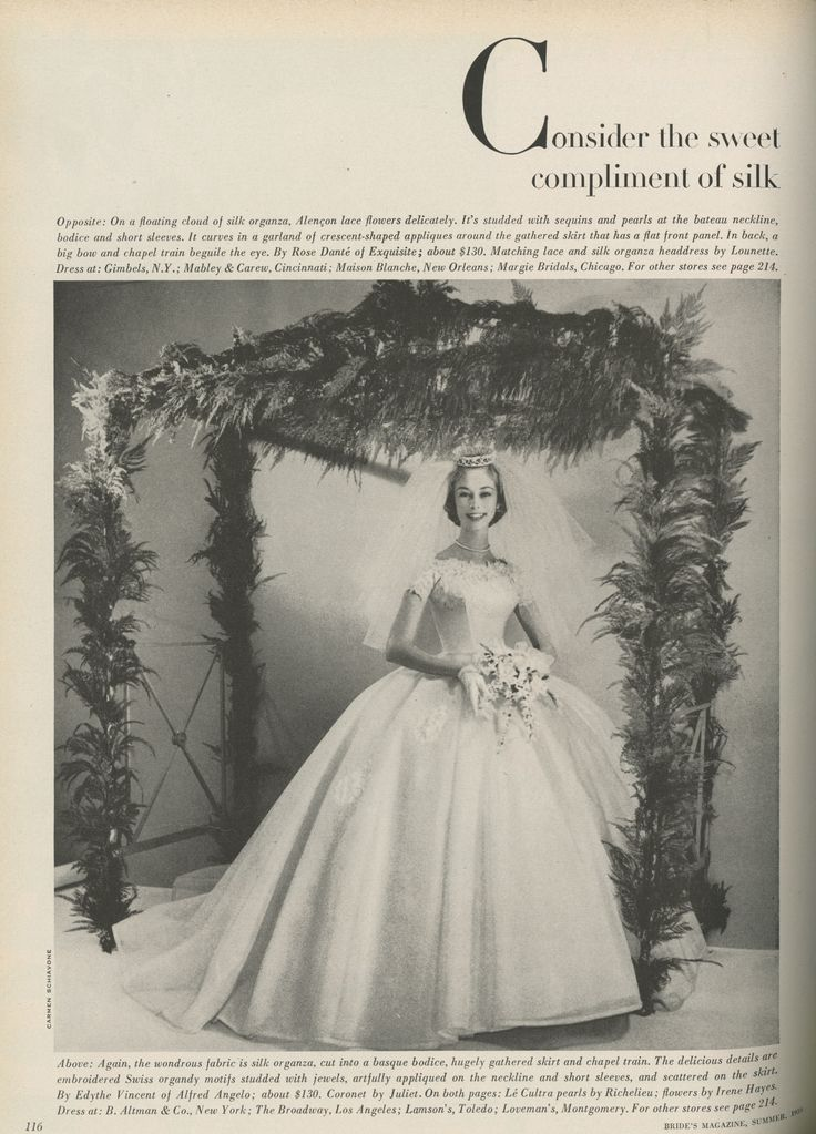 Alfred Angelo Vintage Designer Fashion Bride Ad From 1959