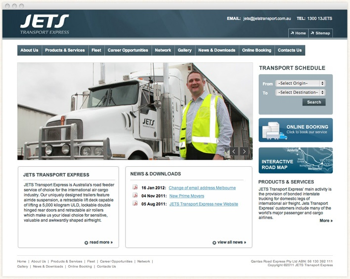 JETS Transport Express is Australia's road feeder service of choice for the international air cargo industry.    JETS Transport Express' main activity is the provision of bonded interstate trucking for domestic legs of international air freight.