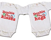 Twin funny onesie/shirt - Drinking Buddies - Twin clothing - Hand painted. $26.75, via Etsy.