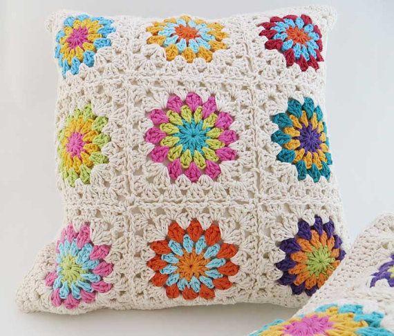 Como hacer cojines tejidos a crochet - Imagui