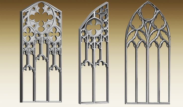 Gothic window high-poly modeling, The final scene was rendered in zbrush.