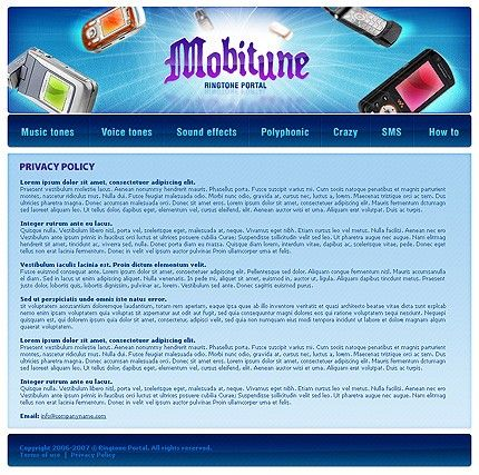 Media Content Website Templates by Maxwell