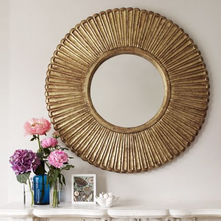 a lovely take on sunburst mirrors