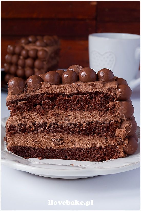 Tort czekoladowy z Maltersami ilovebake.pl #chocolate