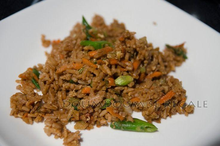 Riz frit à la chinoise   Doumdoum se régale
