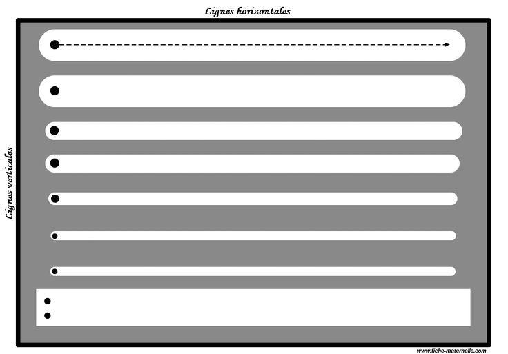 Des PISTES GRAPHIQUES à plastifier pour apprendre à écrire : les lignes horizontales et verticales