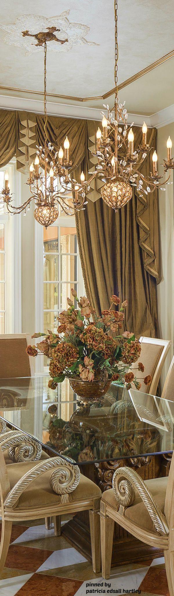1638 best Elegant Dining images on Pinterest | Dining room design ...