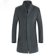 Casacos Masculino Slim Fit abrigo de cachemir hombres Trench Coat estilo británico larga para hombre de lana chaquetas otoño invierno